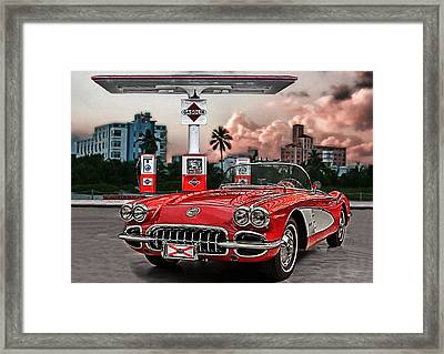The Little Red Framed Print