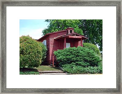 The Little Red School House Framed Print