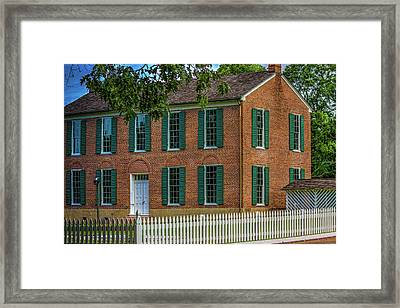The Little Red Schoolhouse  Framed Print by Barry Jones