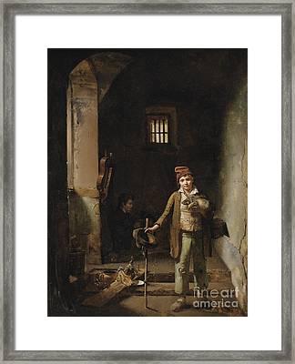 The Little Savoyards' Bedroom Or The Little Groundhog Shower Framed Print by Celestial Images