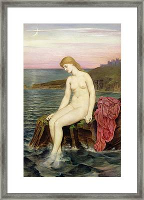 The Little Sea Maid  Framed Print by Evelyn De Morgan