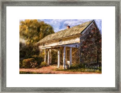 The Little Stone House In September Framed Print