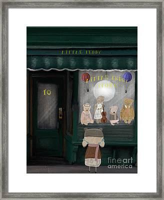 The Little Teddy Store Framed Print