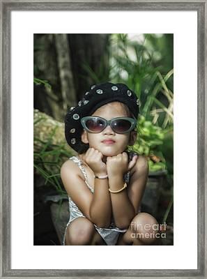 The Little Thinking Girl Framed Print