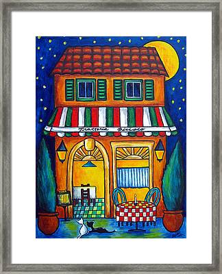 The Little Trattoria Framed Print by Lisa  Lorenz