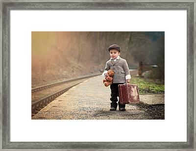The Little Traveler Framed Print by Tatyana Tomsickova