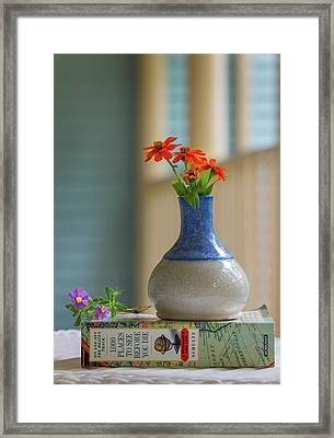 Framed Print featuring the photograph The Little Vase by Cindy Lark Hartman