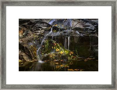 The Little Waterfall  Framed Print by Saija  Lehtonen