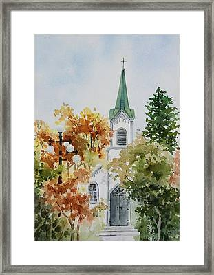 The Little White Church Framed Print by Bobbi Price