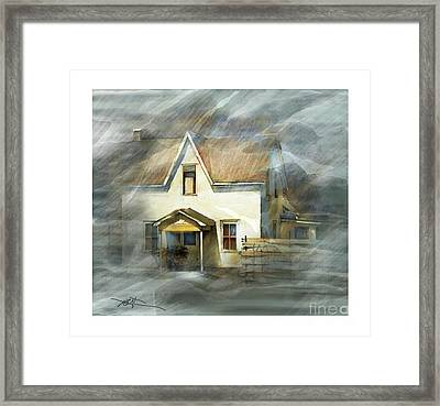 The Little White House On Hwy 6 Framed Print by Bob Salo