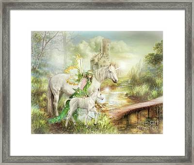 The Littlest Unicorn Framed Print