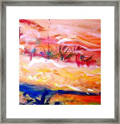 The Living Dunes Framed Print
