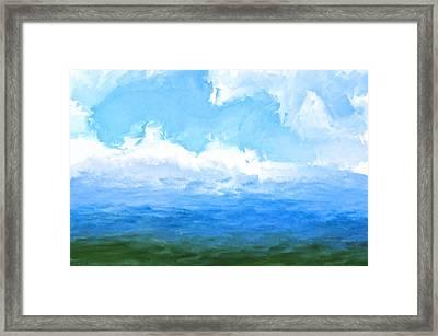 The Living Sea Framed Print
