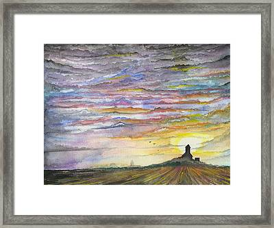 Framed Print featuring the digital art The Living Sky by Darren Cannell