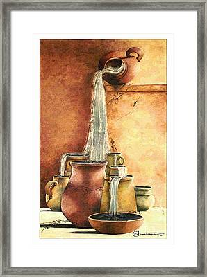 The Living Water Framed Print by Denise Armstrong