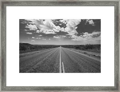 The Llano Estacado Framed Print by Nathan Hillis