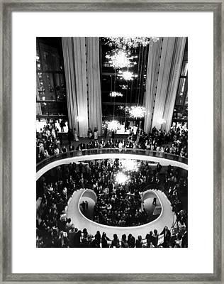 The Lobby Of The Metropolitan Opera Framed Print