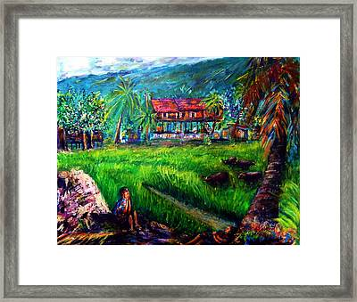 The Local People's Life Of Nakornnayok  Framed Print
