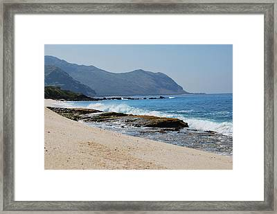 Framed Print featuring the photograph The Local's Beach by Amee Cave