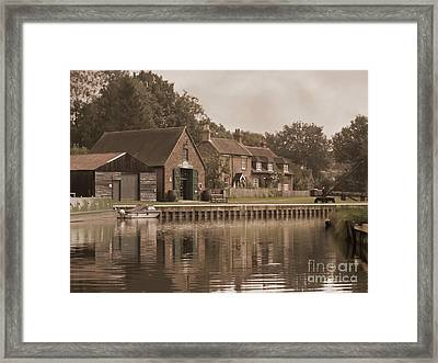 The Lock Keeper's Cottage Framed Print by Terri Waters