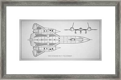 The Lockheed Sr-71 Blackbird Framed Print
