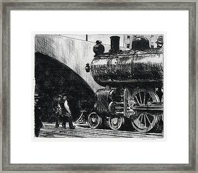 The Locomotive Framed Print