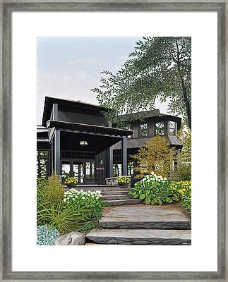 The Lodge At Fawn Island Framed Print