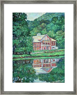 The Lodge At Peaks Of Otter Framed Print