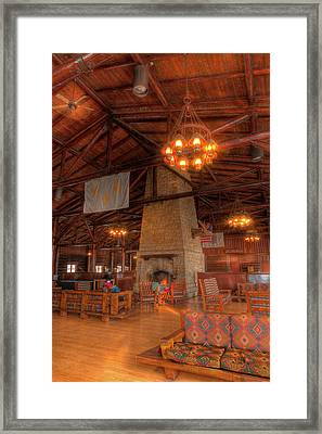 The Lodge At Starved Rock State Park Illinois Framed Print by Steve Gadomski