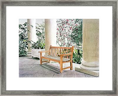 The Loggia At The Virginia Steele Scott Galleriy Of American Framed Print