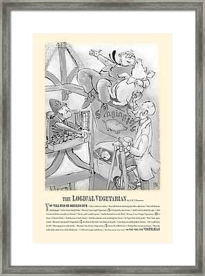 The Logical Vegetarian Framed Print