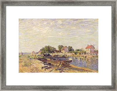 The Loing At Saint Mammes 1885 Framed Print by Alfred Sisley