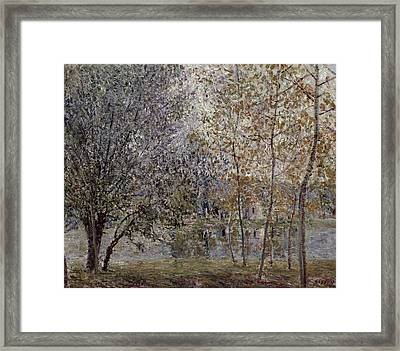The Loing Canal In Spring Framed Print by Alfred Sisley
