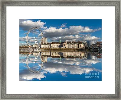 The London Eye Framed Print by Adrian Evans