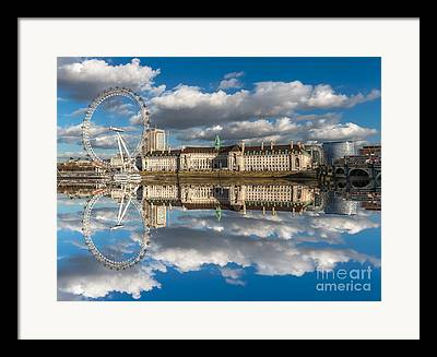 London Eye Millennium Pier Framed Prints