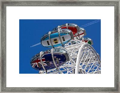 The London Eye And Jet Aircraft Framed Print by David Pyatt
