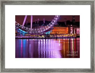 The London Eye Framed Print by Donald Davis