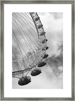 Framed Print featuring the photograph The London Eye, London, England by Richard Goodrich