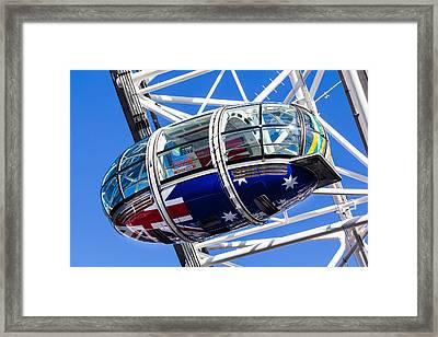 The London Eye Rugby World Cup 2015 Framed Print by David Pyatt