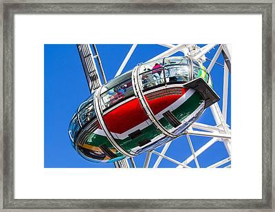 The London Eye South African Flag Framed Print by David Pyatt