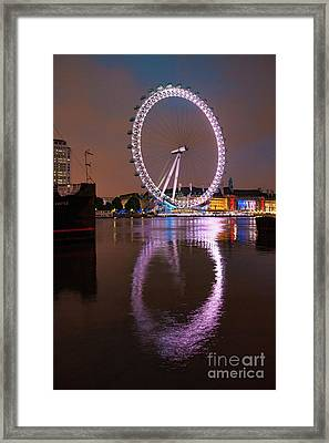 The London Eye Framed Print by Nichola Denny