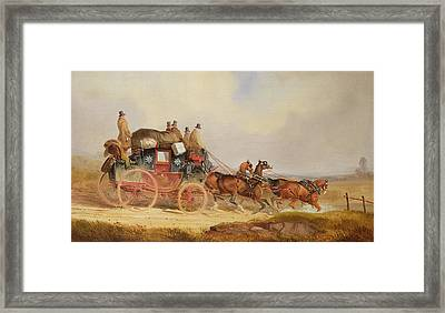 The London To Louth Royal Mail Framed Print by Charles Cooper Henderson