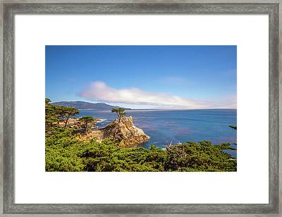 Framed Print featuring the photograph The Lone Cypress Pebble Beach by Scott McGuire