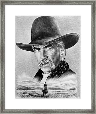The Lone Rider Framed Print