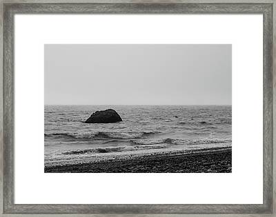 The Lone Rock Framed Print