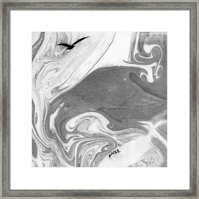 The Lone Seagull Framed Print by Oiyee At Oystudio