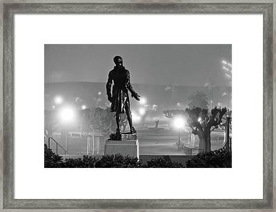 The Lone Speaker Framed Print by Daniel Furon