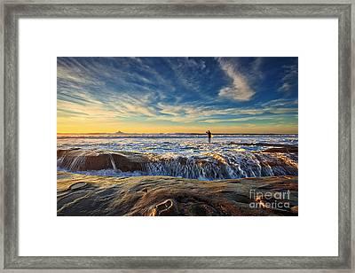 The Lone Surfer Framed Print