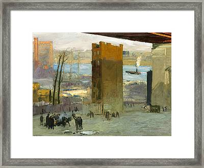 The Lone Tenement Framed Print