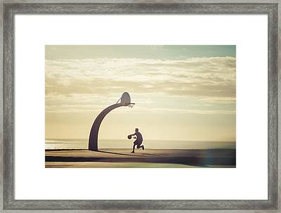 The Lone Wolf Framed Print by Justin Carrasquillo